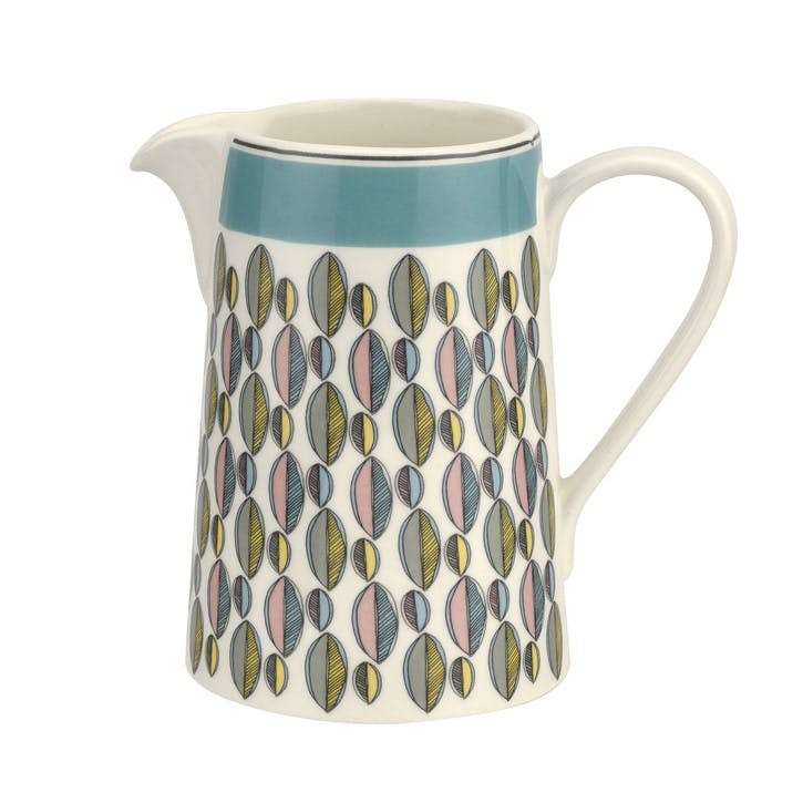 Westerly Cream Jug - 10oz; Turquoise Band