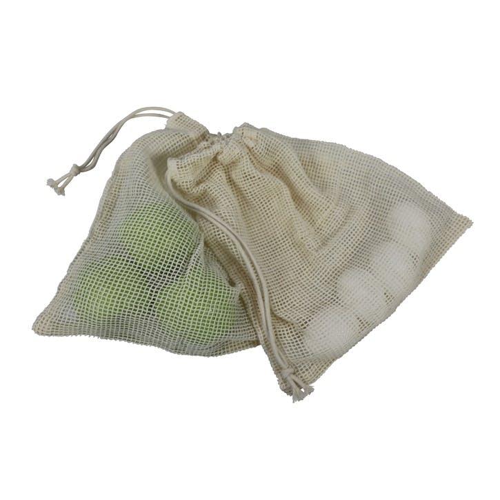 Reusable Organic Cotton Fruit & Vegetable Bags, Set of 3