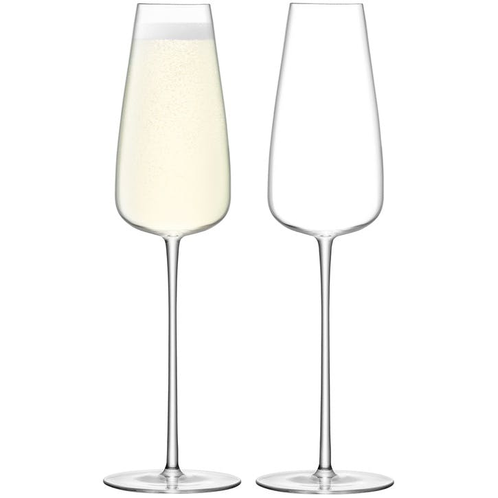 Wine Culture Set of 2 Champagne Flutes