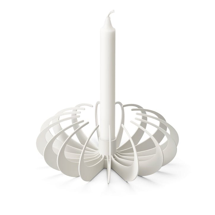 Shadow Candle Holder, White