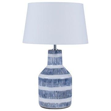 Etch Detail Stoneware Table Lamp Base