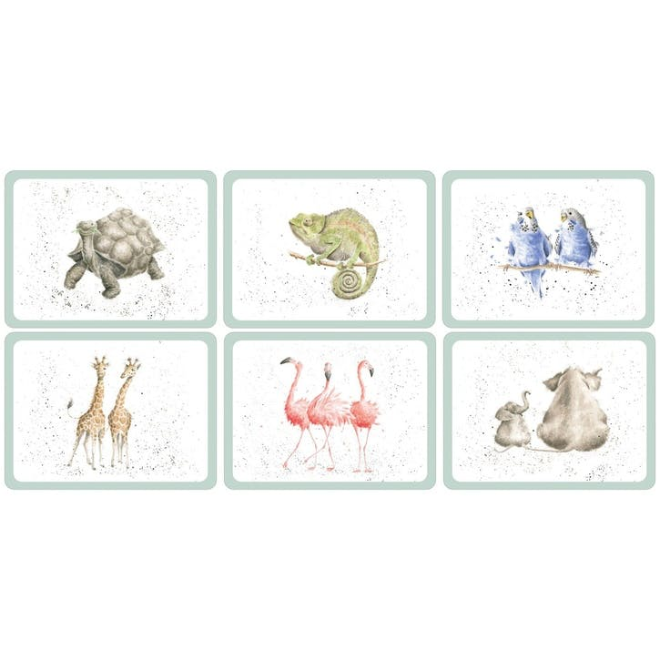 Wrendale Zoological Placemats, Set of 6