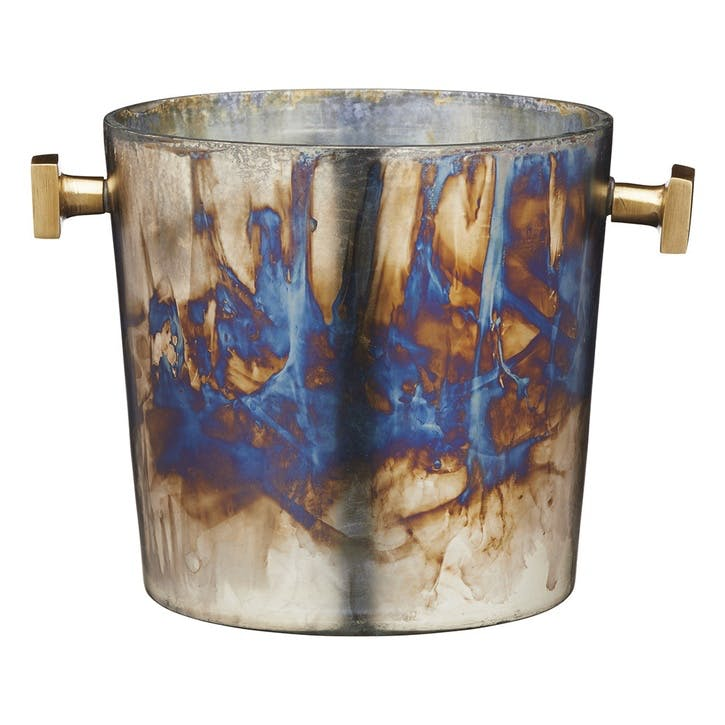 Mercury Fired Glass Ice Bucket