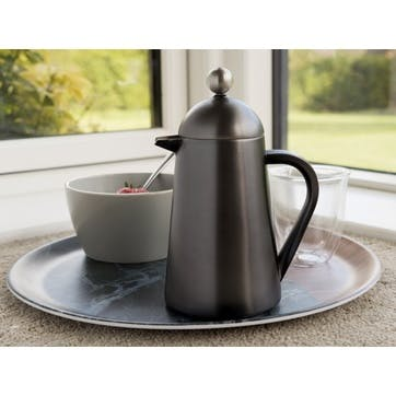 Edited Double Walled 3 Cup Thermique; Gun Metal Grey