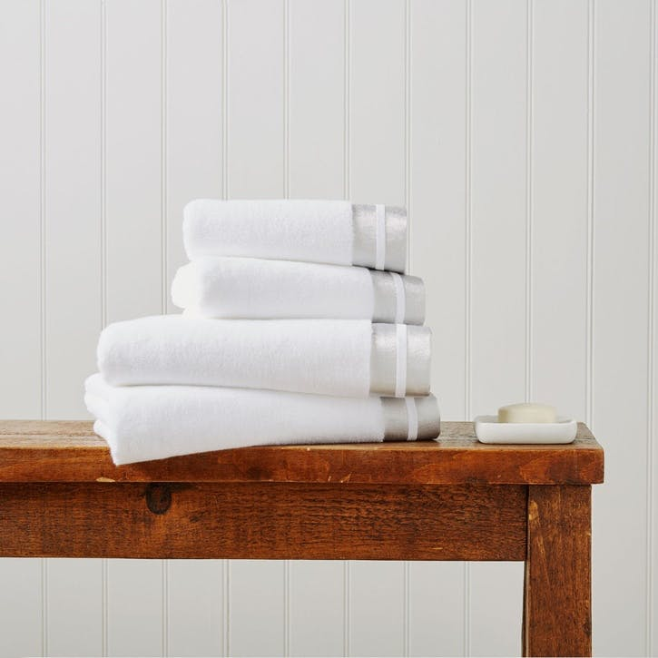 Mode Hand Towel, Silver