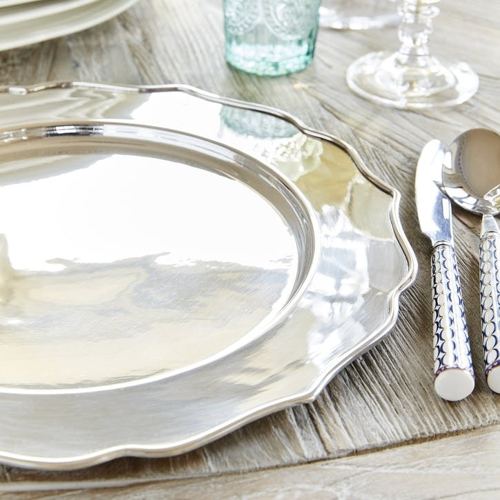Fluted Silver Plated Platter