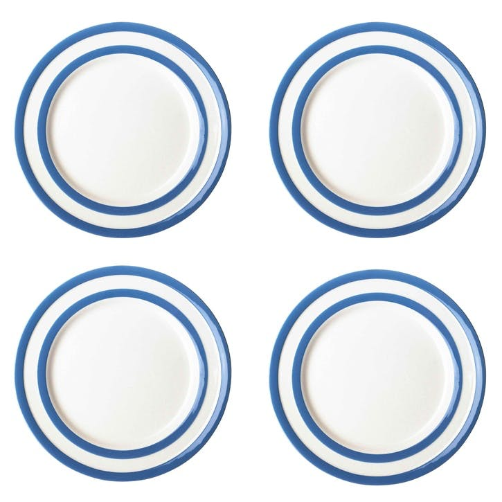 Cornish Blue Lunch Plates, Set of 4