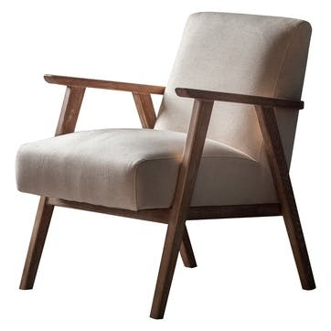 Whitstable Armchair, Natural Linen