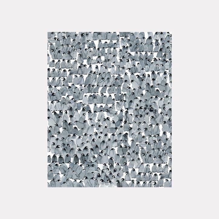 Oliver Flores Penguins Canvas Print - 50 x 40cm