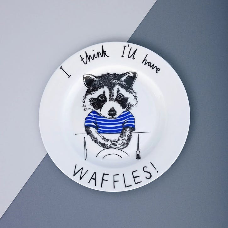 'I think I'll Have Waffles' Side Plate