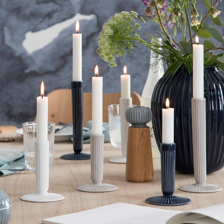 Hammershøi Candle Stick, Large, Light Grey