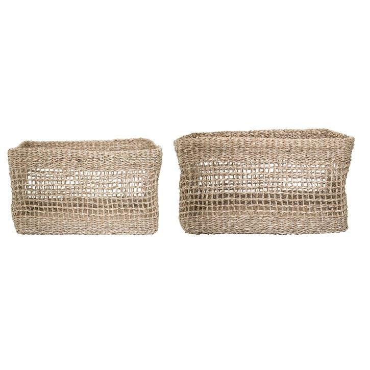 Seagrass Storage Baskets, Set of 2