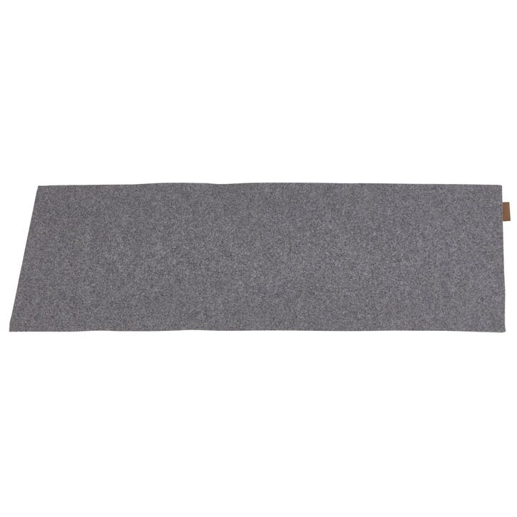 Vendela Wool Table Runner, Granite