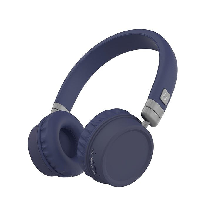 Harlem Wireless Over-Ear Headphones With Microphone; Blue