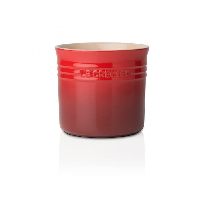 Stoneware Large Utensil Jar; Cerise