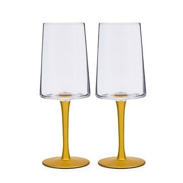 Pair of Wine Glass, Bee
