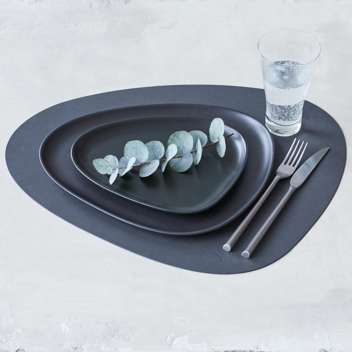 Curve Placemat, Set of 4, Anthracite