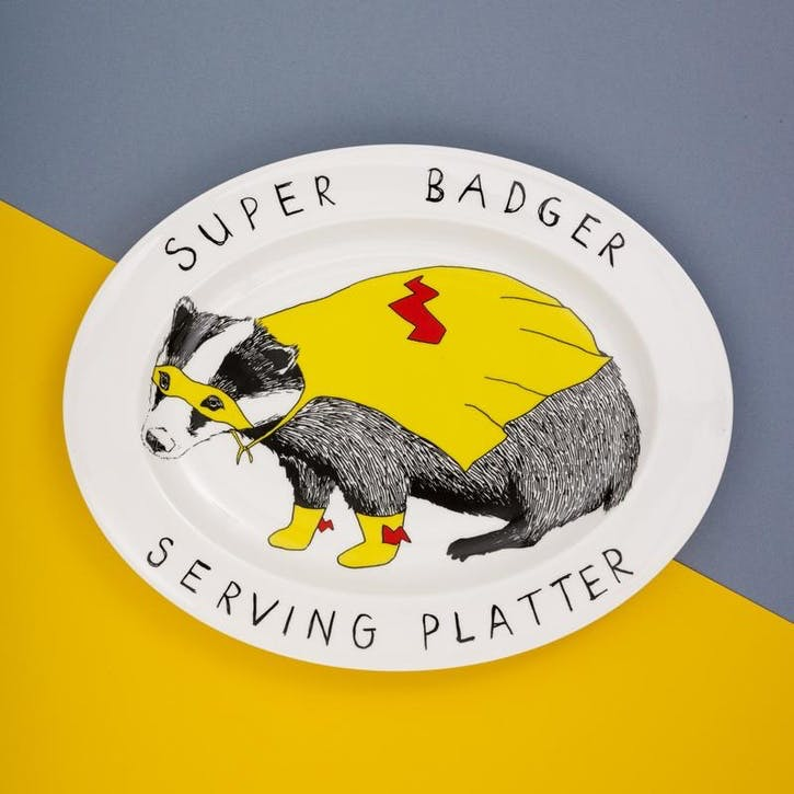 'Super Badger' Serving Platter