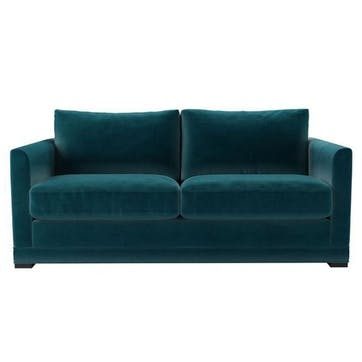 Aissa Sofa, Two and a Half Seat, Turquoise Velvet