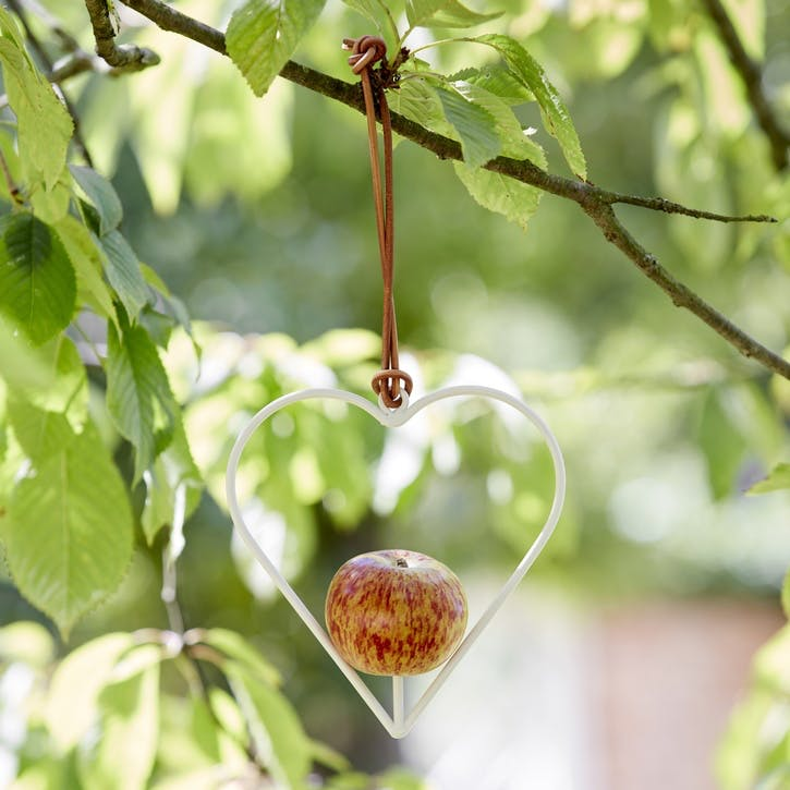 Apple Bird Feeder, Heart