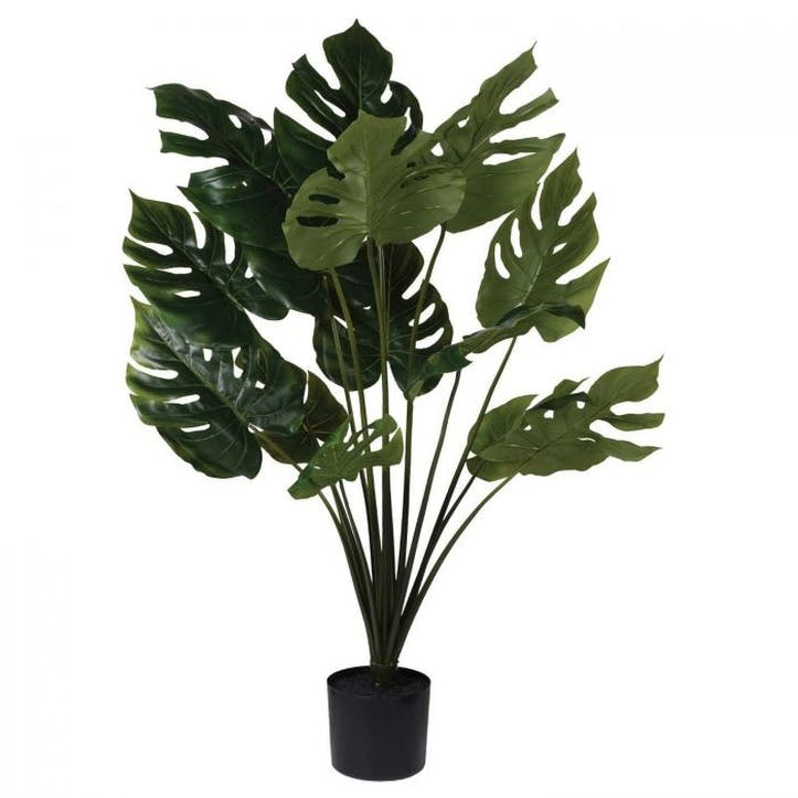 Faux Potted Monstera Palm