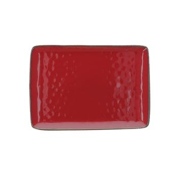 Concerto Rectangular Tray, Fire Red