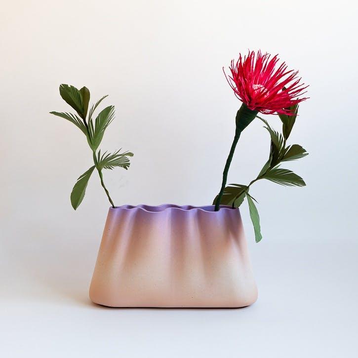 Jumony Wide Vase, Lavender