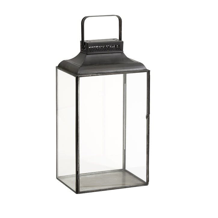 Black Rectangular Lantern, Small