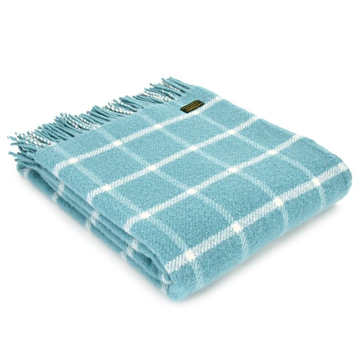 Chequered Throw; Spearmint