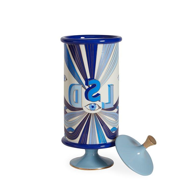 Druggist, LSD Canister, Large, Blue, H37 x D15cm