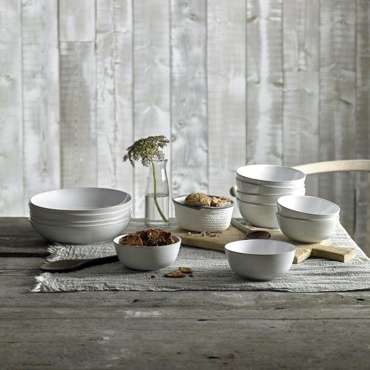 Natural Canvas Pasta Bowl, 24cm, Cream