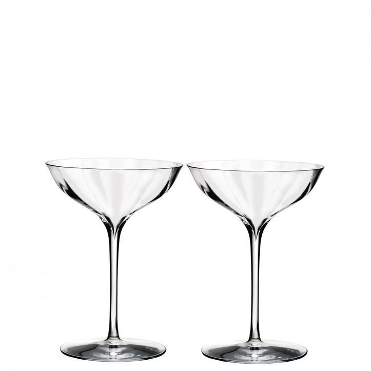 Elegance Optic Champagne Coupe, Set of 2