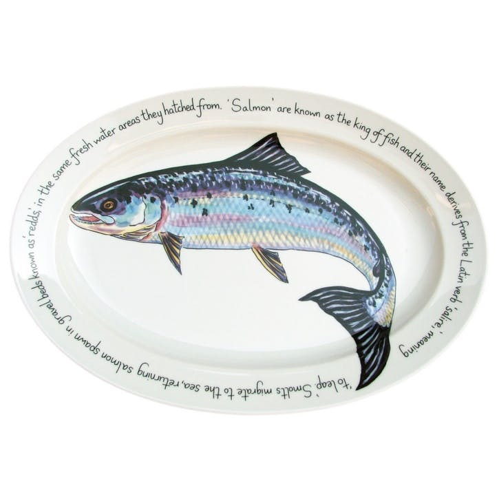 Salmon Oval Plate - 39cm