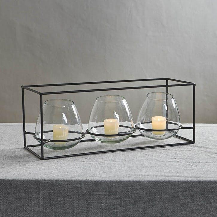 Keeto Glass T-Light Set
