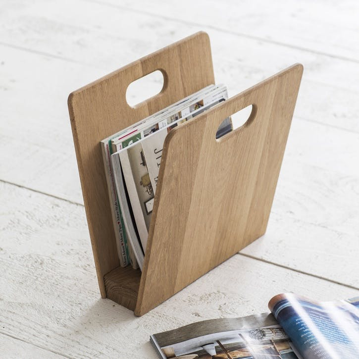 Woodstock Raw Oak Magazine Rack