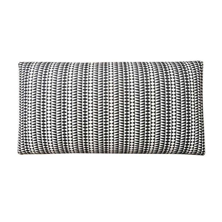 Medina Embroidered Bench, 80cm, Black/White