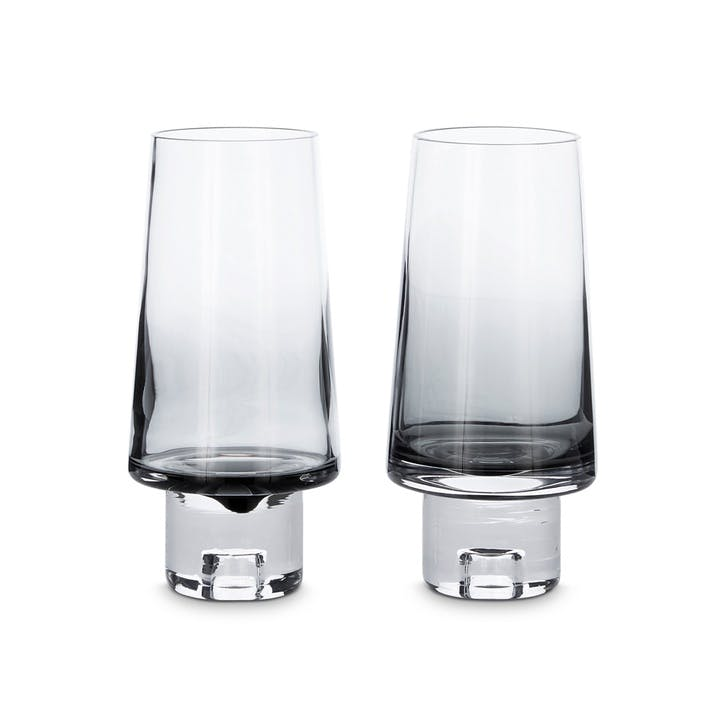 Tank High Ball Glasses, Set of 2, Black