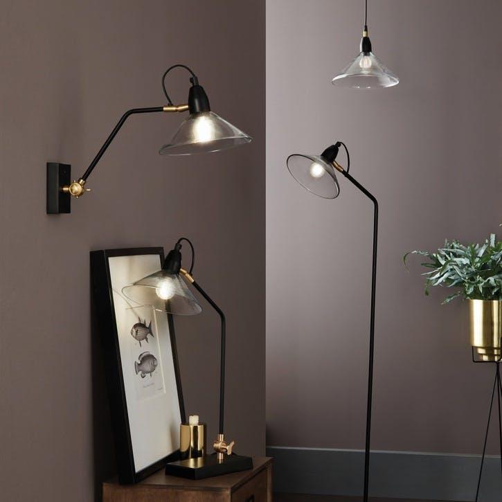 Canton Metal & Glass Floor Lamp
