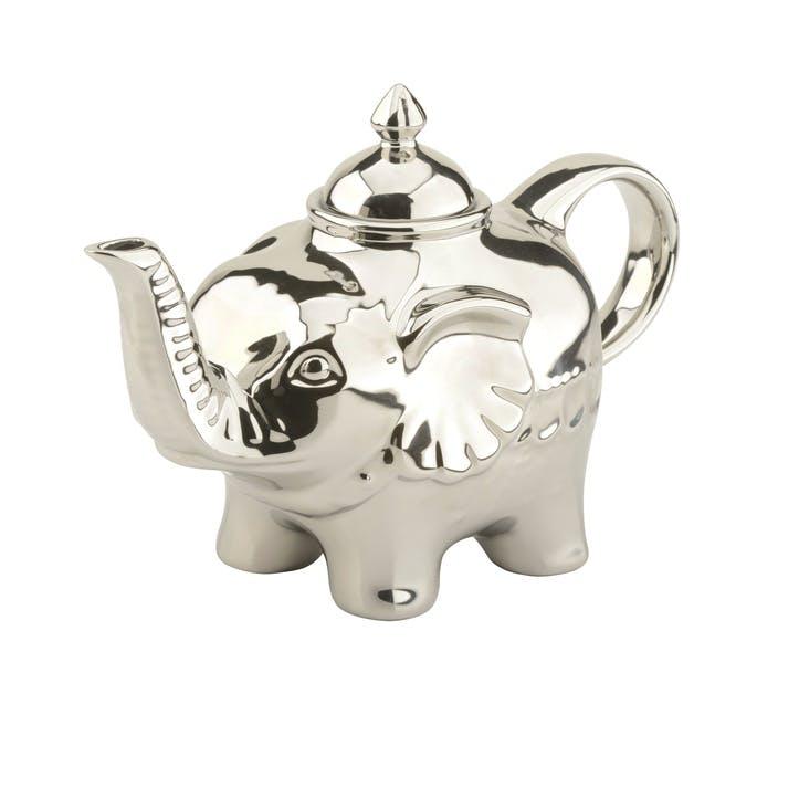 Elephant Teapot, Platinum, 90cl