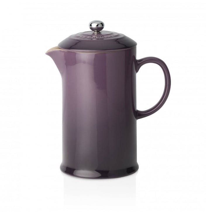 Stoneware Cafetiere with Metal Press; Cassis