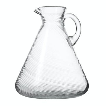 Twisted Glass Jug