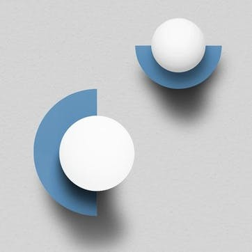 Large C, Plug in Wall Lamp, H37 x W30 x D29cm, Blue