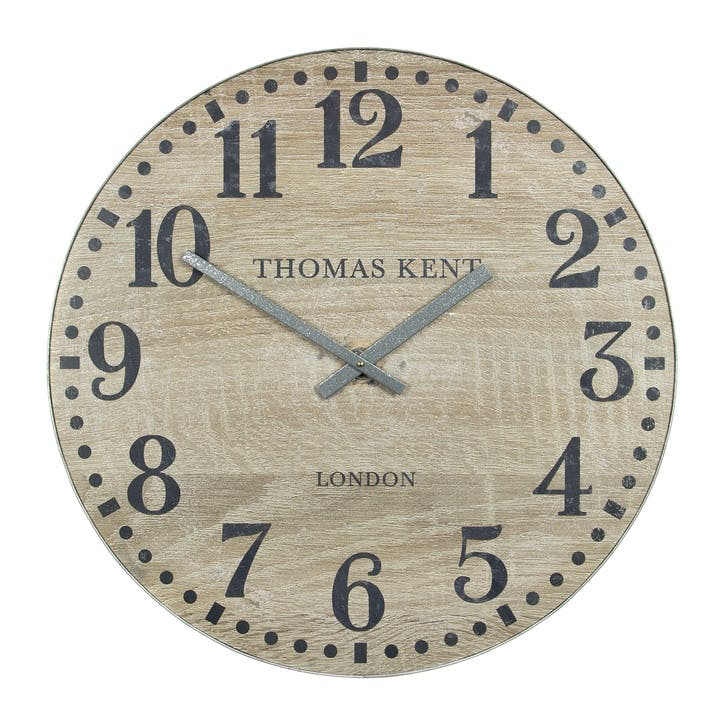 Wharf Clock, 76cm, Soaped Oak