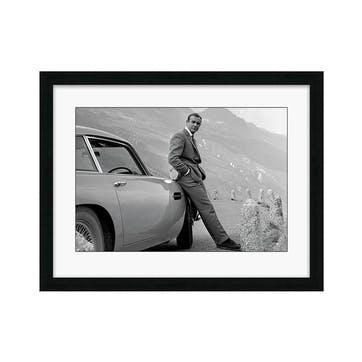James Bond Aston Martin Framed Print, 68.6 x 88.6cm