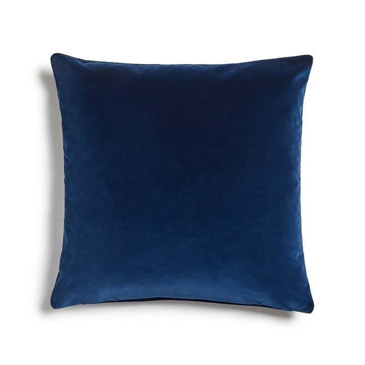 Monroe Large Square Cushion, Midnight Blue