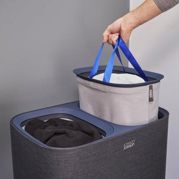 Tota, Easy-Empty, Laundry Basket, 90 Litre Black