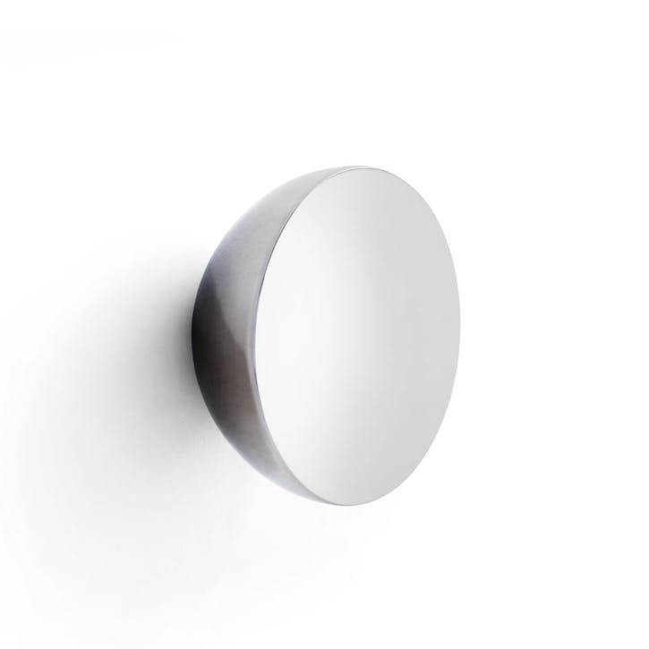 Aura, Wall Mirror, W17 x D16cm, Stainless Steel