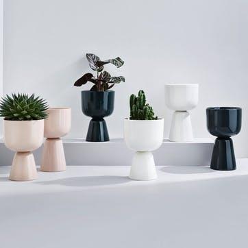 Nappula Plant Pot, White, Large