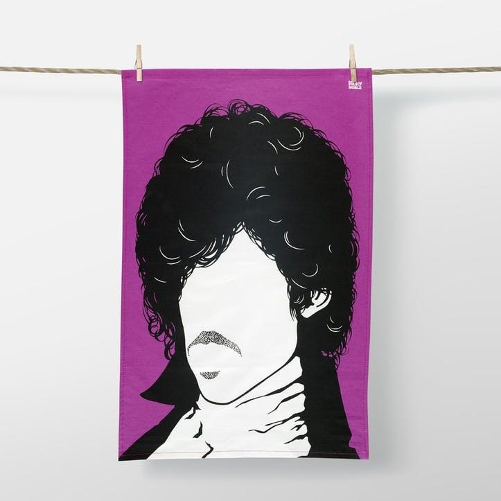 Icon Prince Tea Towel, 47cm x 74cm, Purple