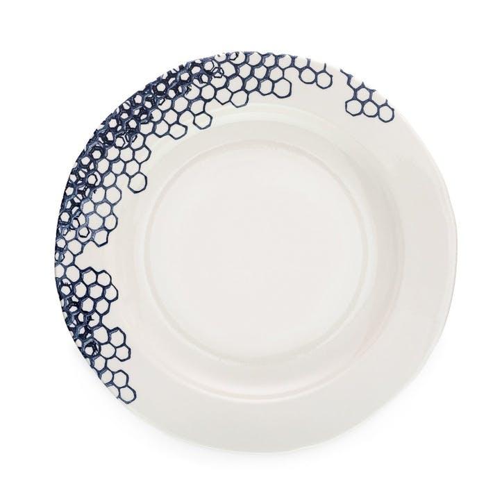 Ink Blue Pollen Dinner Plate
